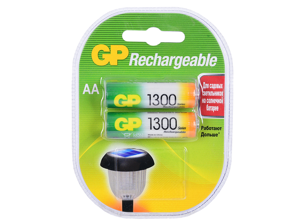 Аккумуляторы GP 2шт, AA, 1300mAh, NiMH (130AAHC-2DECRC2)