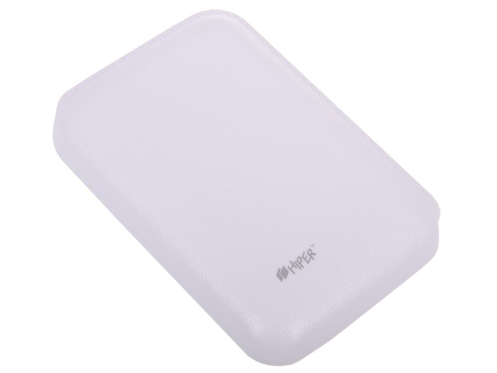 Фото - Внешний аккумулятор Hiper SP7500 White, 7500mAh, 2xUSB 2.1A, Li-Ion, индикатор заряда аккумулятор