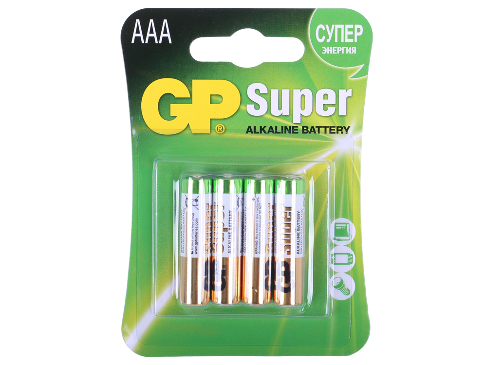 Батарея GP 24A 4шт. Super Alkaline (AAA) GP24A-CR4 цены