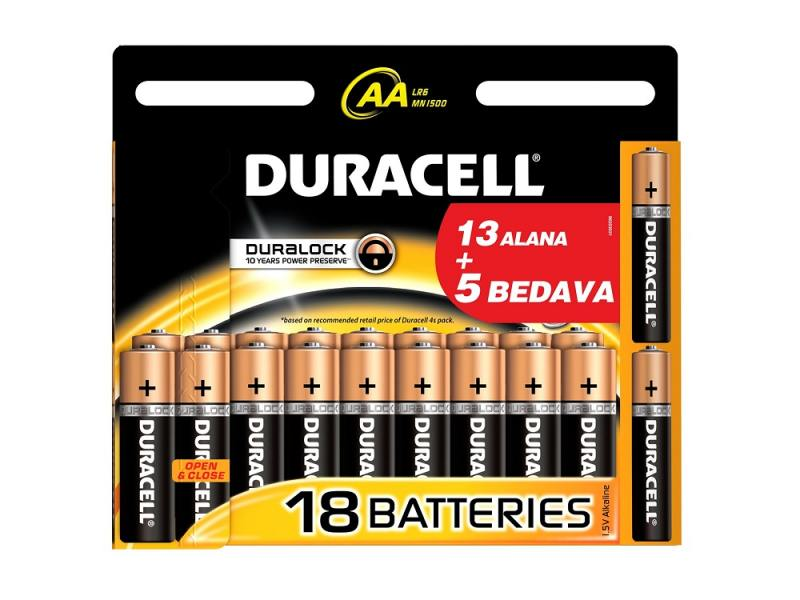 Батарейки Duracell Basic AA 18 шт цена и фото