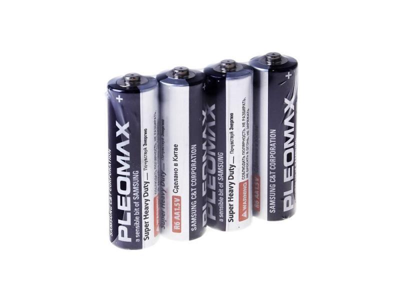 Батарейки Samsung Pleomax R6 AA 4 шт батарейки smart buy sbba 2a24s aa 24 шт