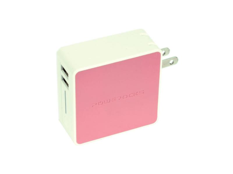 Фото - Портативное зарядное устройство Powerocks Tetris 2xUSB 3000mAh розовый сетевое зарядное устройство nobby comfort nbc tc 21 20 черный 2xusb 2 1а led v и а