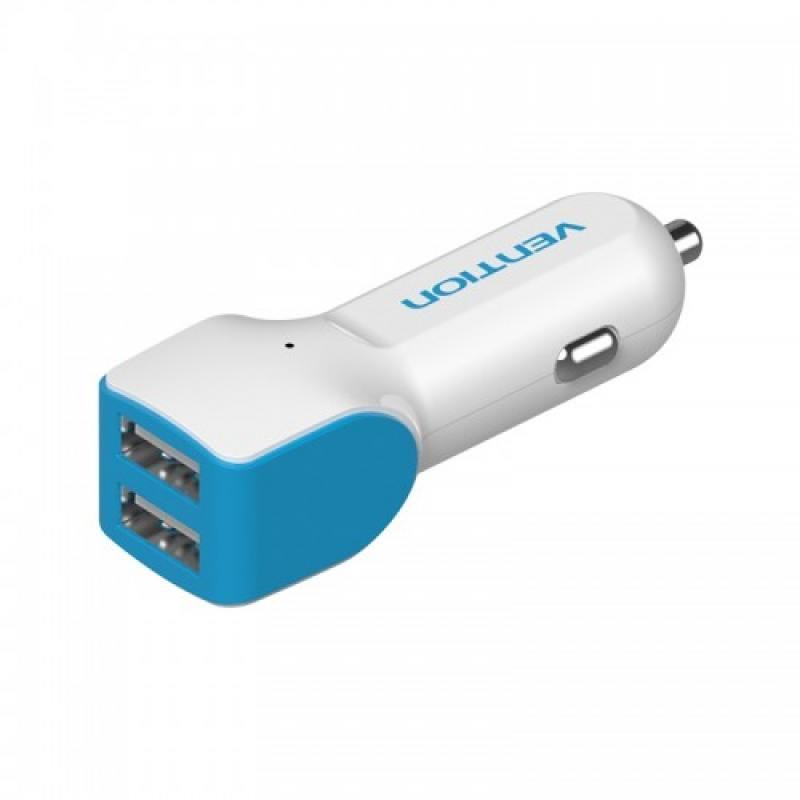 Фото - Автомобильное зарядное устройство Vention VBC-A04 2.4А 2 х USB белый автомобильное зарядное устройство orico ucl 2u bk 2 х usb 1 2 4 а черный