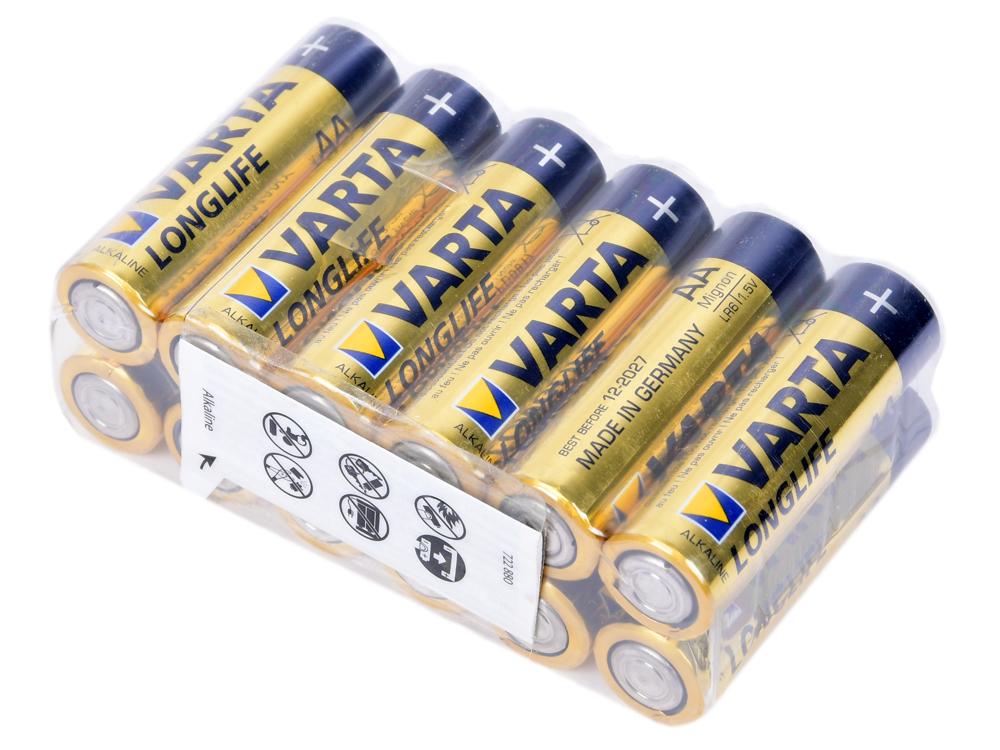 Батарейки Varta Longlife AA 12 шт аккумулятор varta aa 2700маh 4 шт