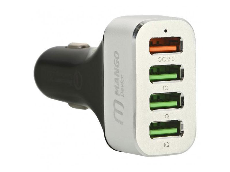 Фото - Автомобильное зарядное устройство Mango Device Quick Charge 2.0 4 x USB серебристый MD-CC-102S рубашка mango man mango man he002emgdgq2