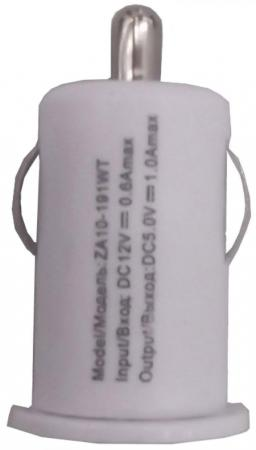 Сетевое зарядное устройство Continent ZA10-191WT 1A черный