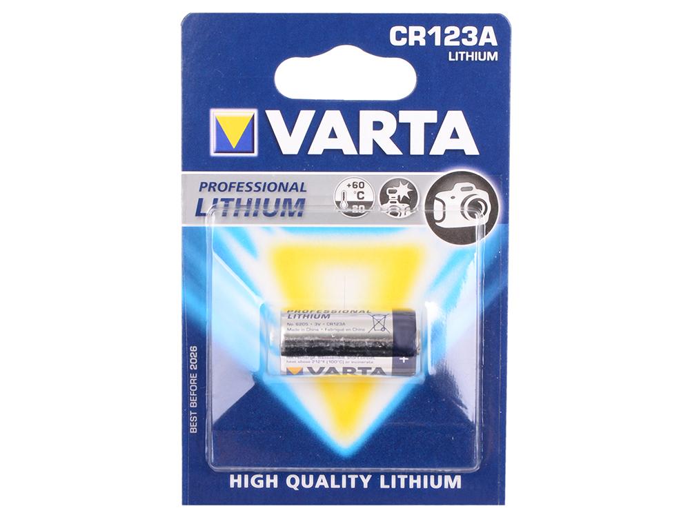 Батарейка Varta Professional CR123A 1 шт батарейка varta max tech с блистер 2шт