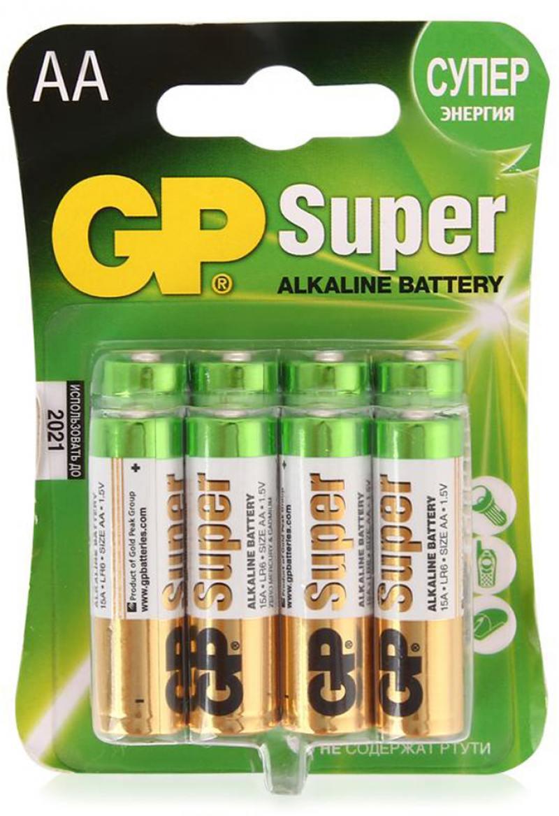 Батарейки GP AA 8 шт
