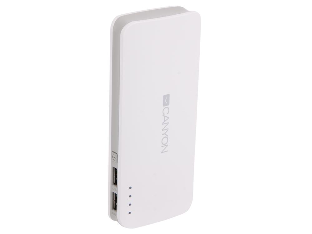 цена Внешний аккумулятор Canyon CNE-CPB100W 10000мАч белый