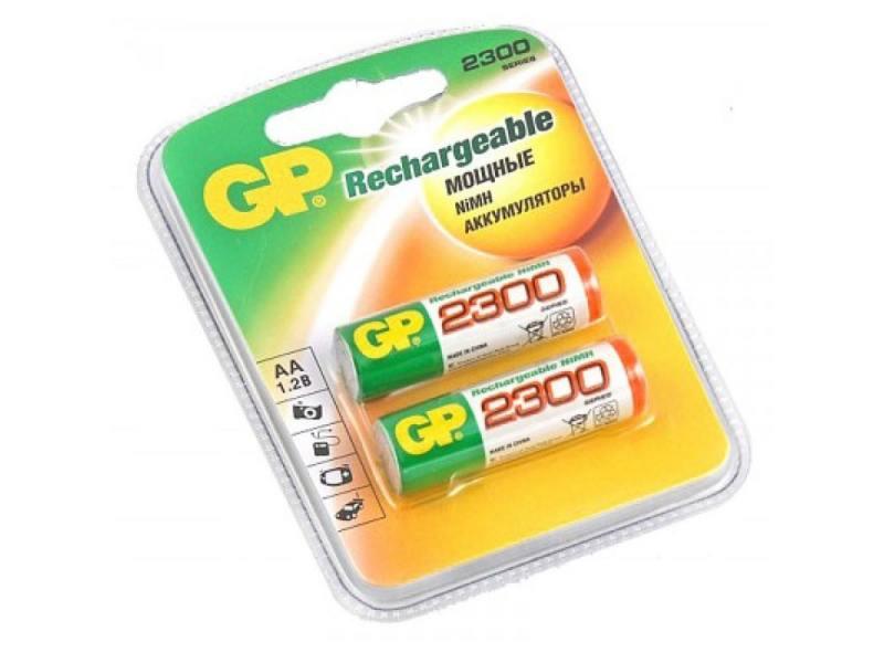 Аккумулятор 2300 mAh GP 230AAHC-2DECRC2 AA 2 шт аккумулятор