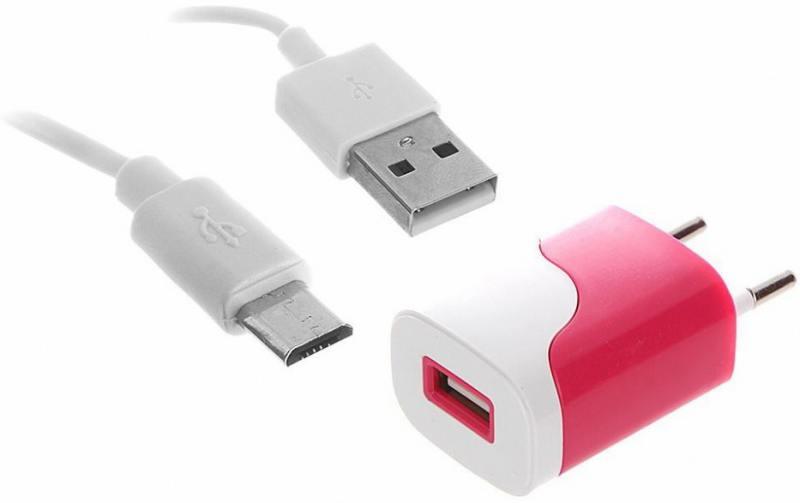 Сетевое зарядное устройство Continent ZN10-194RD 1A USB красный сетевое зарядное устройство qumo energy 2xusb 2 1a со съемным кабелем micro usb черное