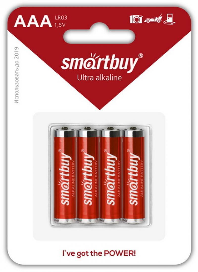 Картинка для Батарейки Smartbuy SBBA-3A04B AAA 4 шт