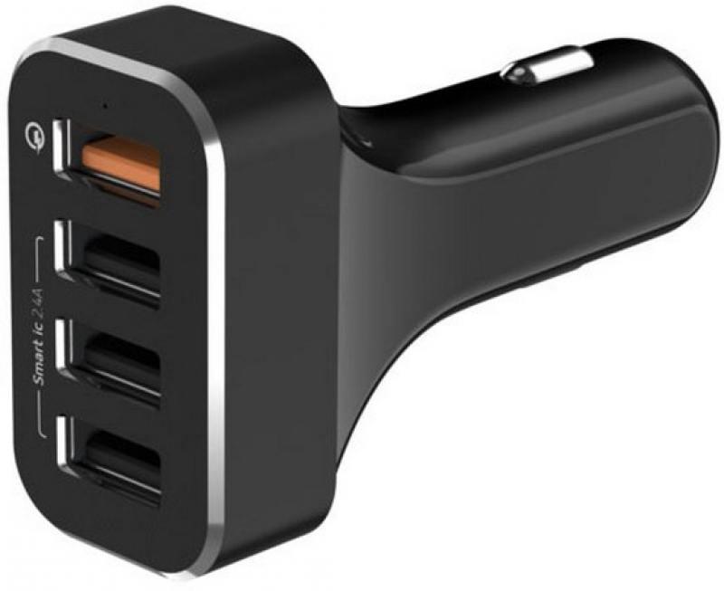 Фото - Сетевое зарядное устройство LAB.C LABC-584-BK 2.4А 4 x USB черный сетевое зарядное устройство gerffins 4 x usb 6 8 а [3a83] чёрный