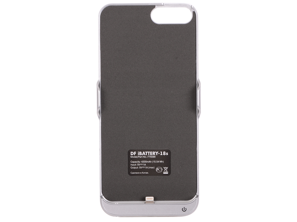 Аккумулятор-чехол для iPhone 6 Plus/6s Plus/7 Plus DF iBattery-18s (silver) аккумулятор чехол для iphone 6 plus 6s plus 7 plus df ibattery 18s white