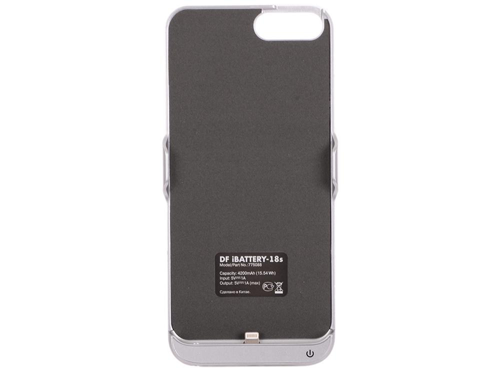 Фото - Аккумулятор-чехол для iPhone 6 Plus/6s Plus/7 Plus DF iBattery-18s (silver) чехол накладка для apple iphone 6 6s deppa gel plus case 85213 pink клип кейс полиуретан