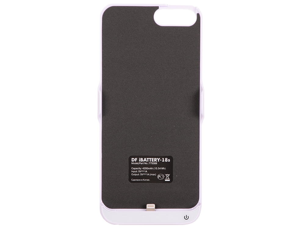 Аккумулятор-чехол для iPhone 6 Plus/6s Plus/7 Plus DF iBattery-18s (white) аккумулятор чехол для iphone 6 plus 6s plus 7 plus df ibattery 18s white