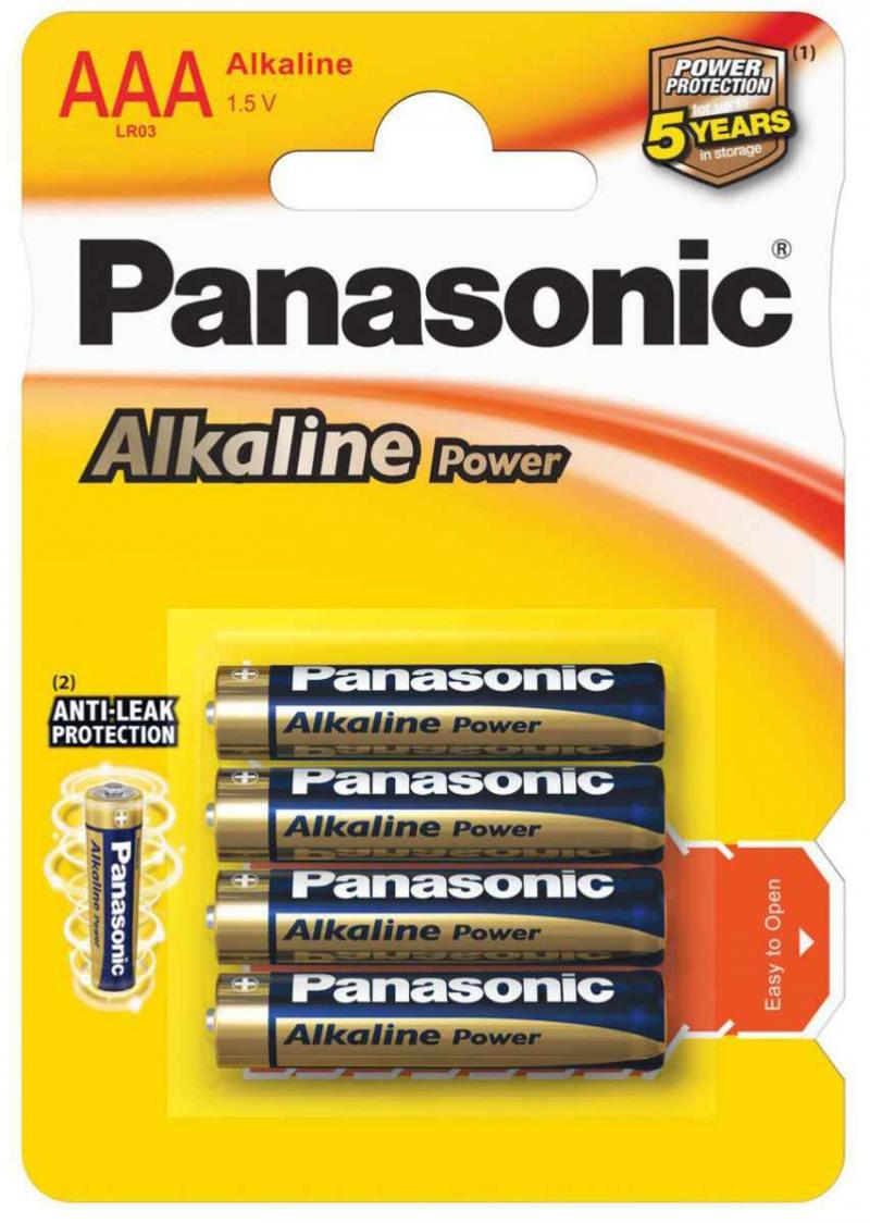 Батарейки Panasonic Alkaline Power LR03REB/4BP AAA 4 шт батарейки canyon nrg 4 шт aaa s6alkaaa4
