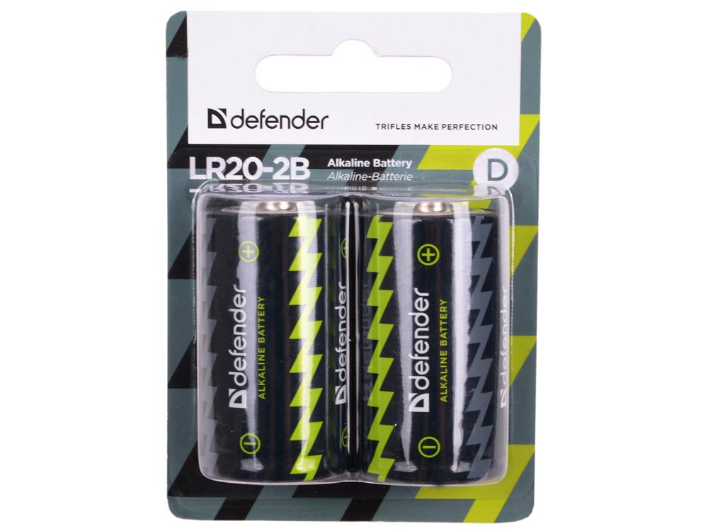 Фото - Батарейки Defender LR20-2B 2шт 56022 затирка д швов litokol starlike defender 1 15мм 1кг бежевый арт sc250 1