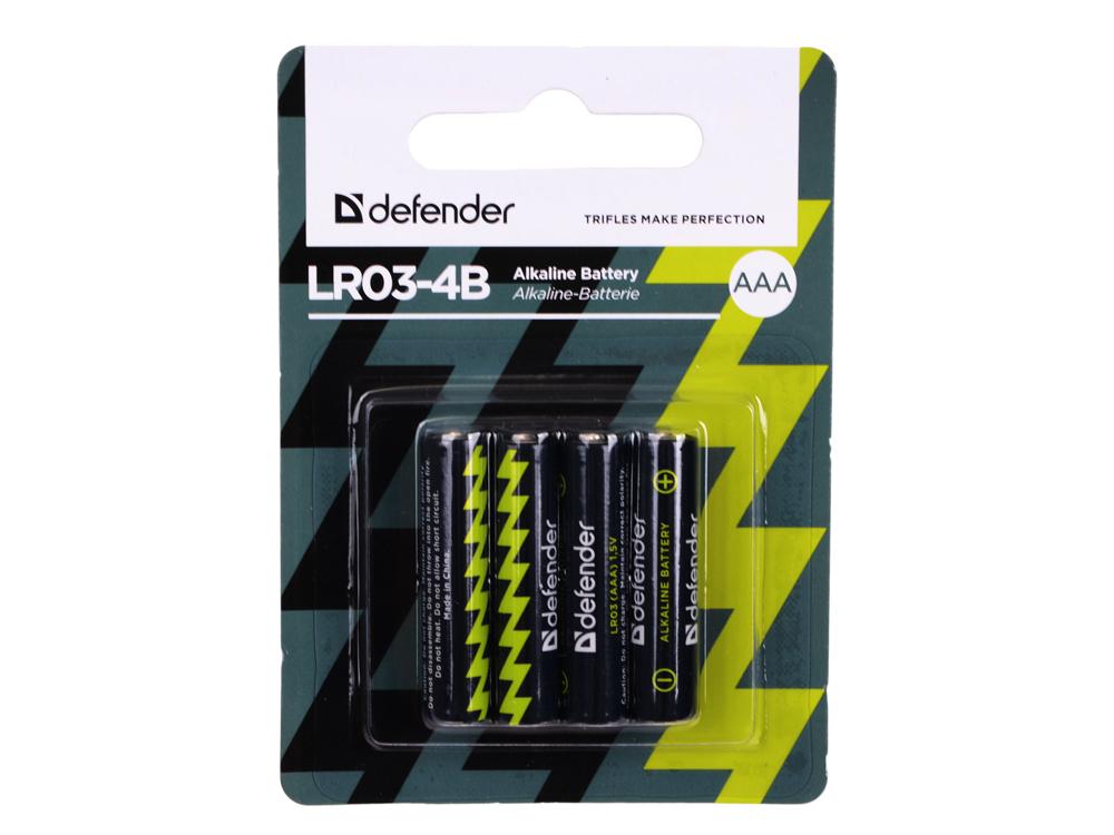 Батарейки Defender LR03-4B 4PCS 4 шт 56002 цена 2017