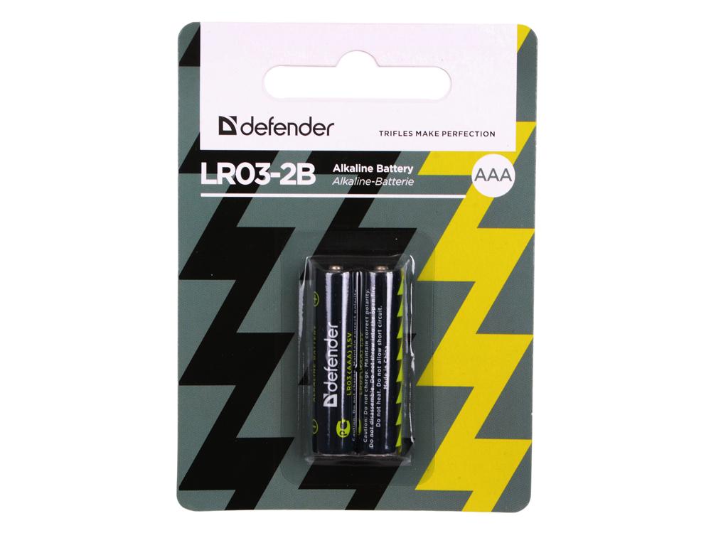 Батарейки Defender (AAA) LR03-2B 2 шт 56003 аккумулятор smartbuy sbbr 3a02bl950 aaa 2 шт