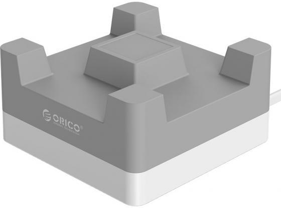 Сетевое зарядное устройство Orico CHA-4U-EU-GY 2.4А 4 x USB серый автомобильное зарядное устройство orico uch 4u 4 x usb 2 4а белый