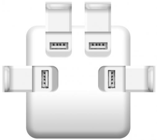 Фото - Сетевое зарядное устройство iconBIT FTB4U6A серебристый FT-0016C сетевое зарядное устройство nobby comfort nbc tc 21 20 черный 2xusb 2 1а led v и а