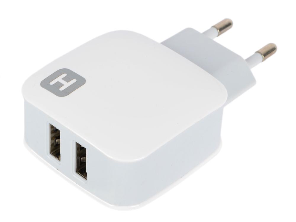 Сетевое зарядное устройство HARPER WCH-8220 Белый, 2хUSB, 2,4A сетевое зарядное устройство usb anker 24w 2хusb 2х2 4a белое a2021321