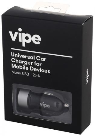 Автомобильное зарядное устройство Vipe VPCCH24BLK 2.4А черный зарядное устройство wester cb20