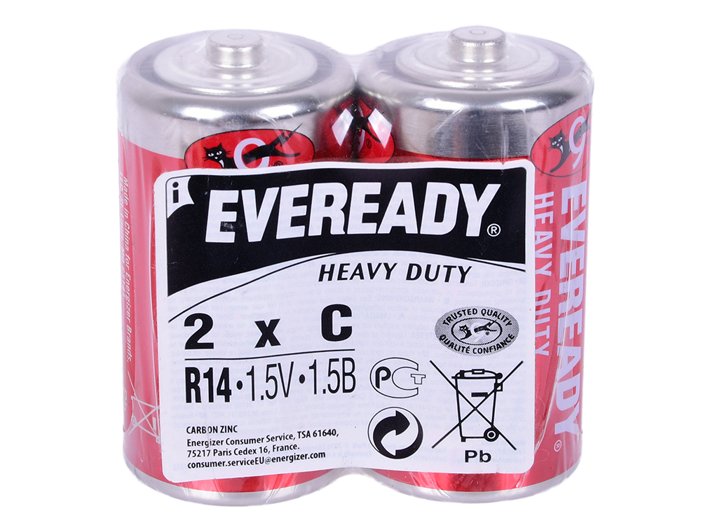 Батарейка солевая Energizer Eveready R14 тип C 2шт цена и фото