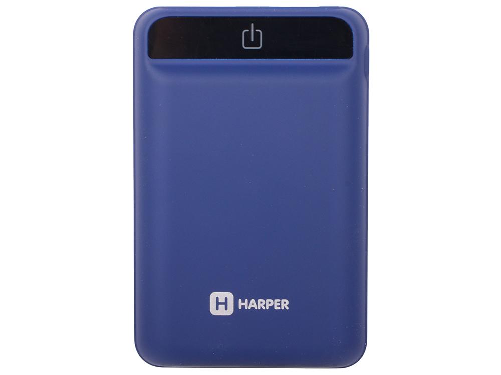 цена на Внешний аккумулятор HARPER PB-2612 blue 12000 mAh 2xUSB 5V/2A