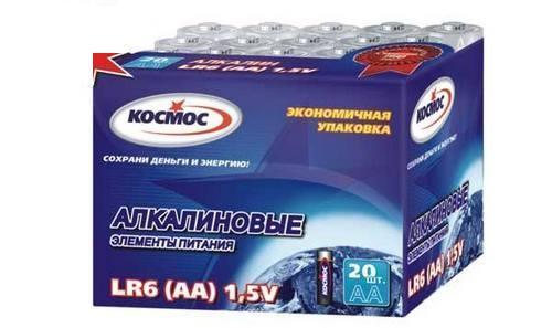 Батарейка КОСМОС KOCLR620BOX LR LR6 (уп.20шт.) кольцо три кита заводное d 5 уп 20шт тест 9 5кг