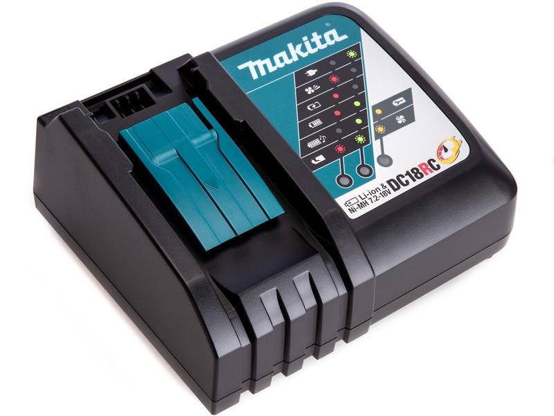 Зарядное устройство MAKITA DC18RC 7.2-18В Ni-Mh 14.4-18В Li-ion зарядное устройство skyrc ni mh en3 ac trx plug