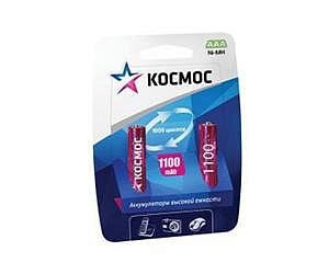 Фото - Аккумулятор КОСМОС KOCR03NIMH(1100MAH) R03 NiMn 1100мАч (блист.2шт.) аккумулятор