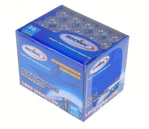 Батарейка КОСМОС KOCLR0320BOX LR LR03 (уп.20шт.) кольцо три кита заводное d 5 уп 20шт тест 9 5кг