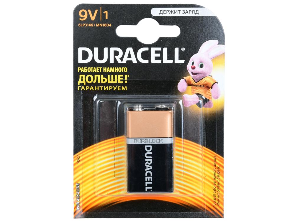 Батарейка DURACELL 6LR61 (6LF22) MN BP1 9В 1шт. (крона) батарейка крона duracell turbo max 6lr61 1bl 9v 1шт