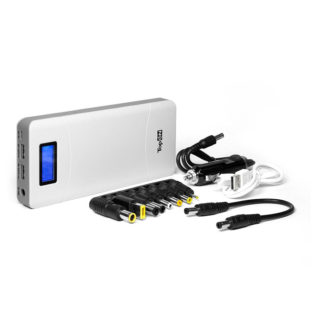Универсальный внешний аккумулятор TopON TOP-T72/W 18000mAh (66.6Wh) с 2 USB-портами и QC 2.0, для зарядки ноутбука белый бумага для акварели brauberg а4 20 листов