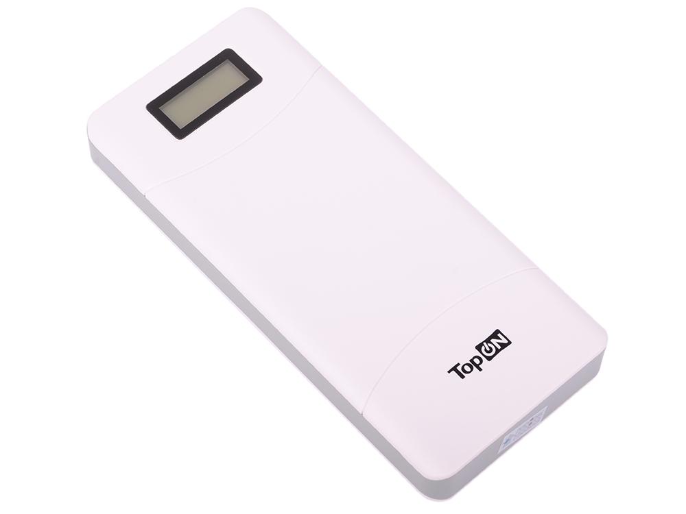 Универсальный внешний аккумулятор TopON TOP-T72/W 18000mAh (66.6Wh) с 2 USB-портами и QC 2.0, для зарядки ноутбука белый