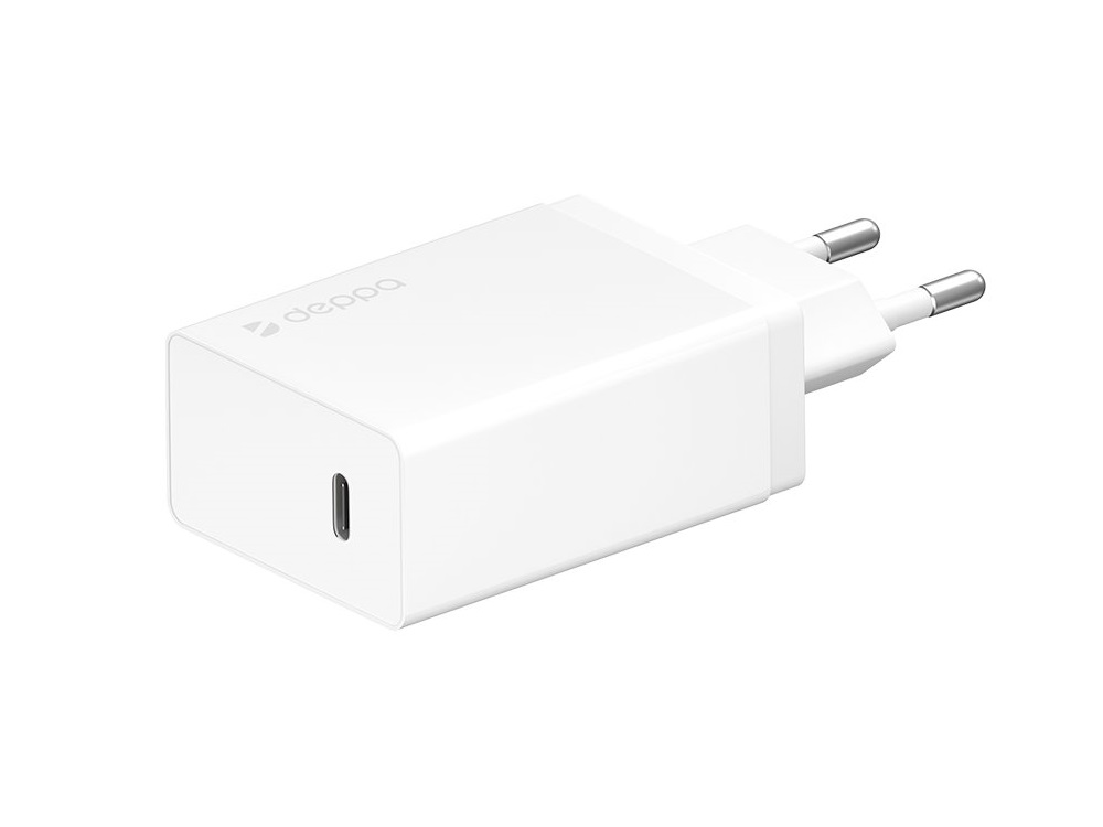 Сетевое зарядное устройство Deppa 11388 USB Type-C, Power Delivery, 30 Вт, белый автомобильное зарядное устройство deppa 11293 usb type c usb a qc 3 0 power delivery 18вт черный