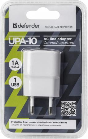 Defender Сетевой адаптер 1 порт USB, 5V / 1А (UPA-10) (83540) сетевой адаптер питания lp с usb выходом