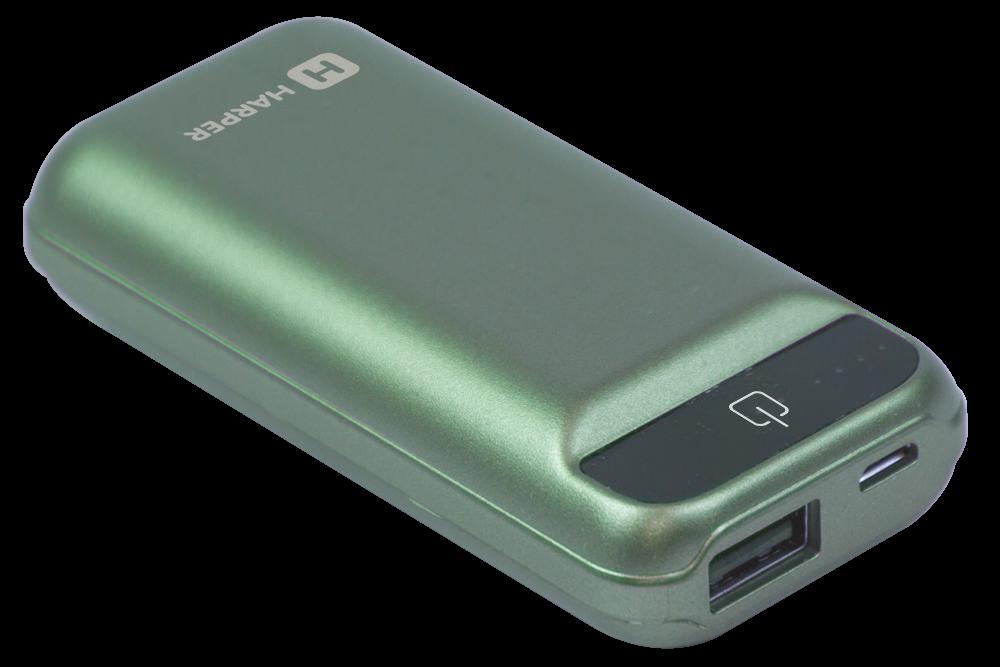Внешний аккумулятор HARPER PB-2605 Mint, 5000mAh, индикатор уровня заряда