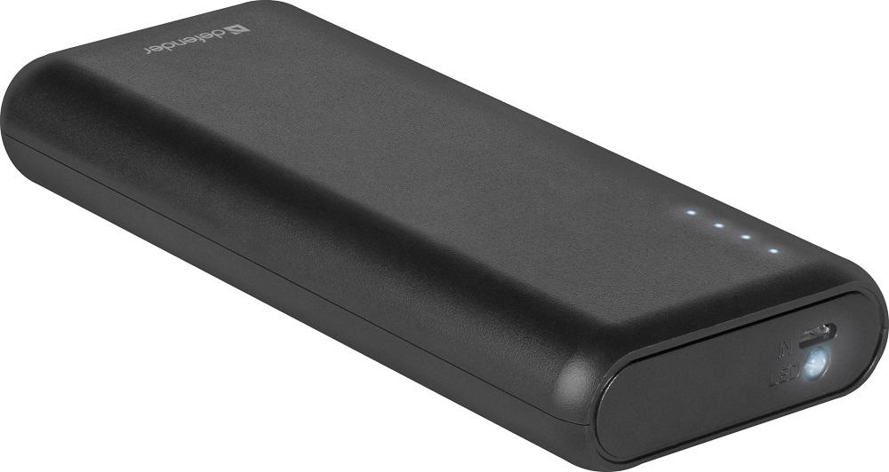 Внешний аккумулятор Defender Lavita 10000B 2 USB, 10000 mAh, 2.1A внешний аккумулятор defender lavita 6000b 1 usb 6000 mah 2 1 a