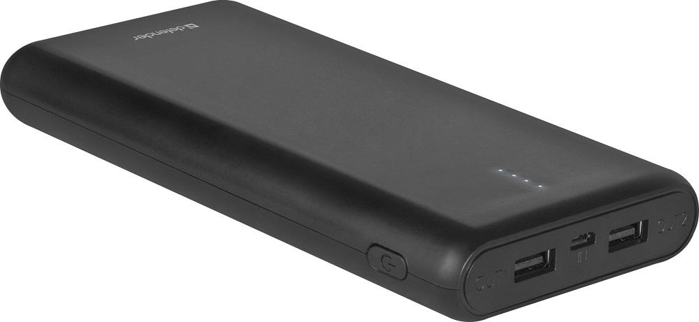 Внешний аккумулятор Defender Lavita 16000B 2 USB, 16000 mAh, 2.1A внешний аккумулятор defender lavita 6000b 1 usb 6000 mah 2 1 a