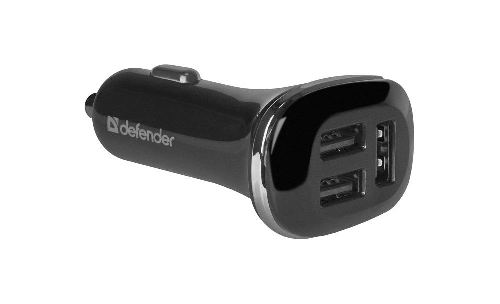 Автомобильный адаптер Defender UCA-50 3 порта USB, 5V / 4.8 A