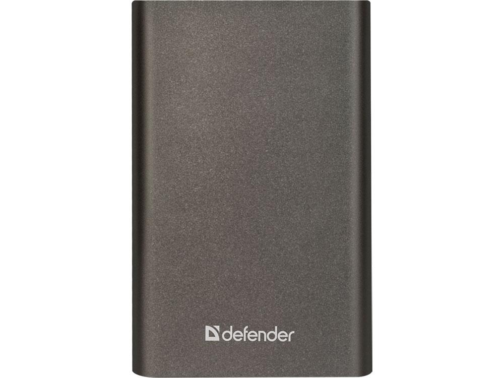 Внешний аккумулятор Power Bank 8000 мАч Defender ExtraLife темно-серый 83622 цена и фото