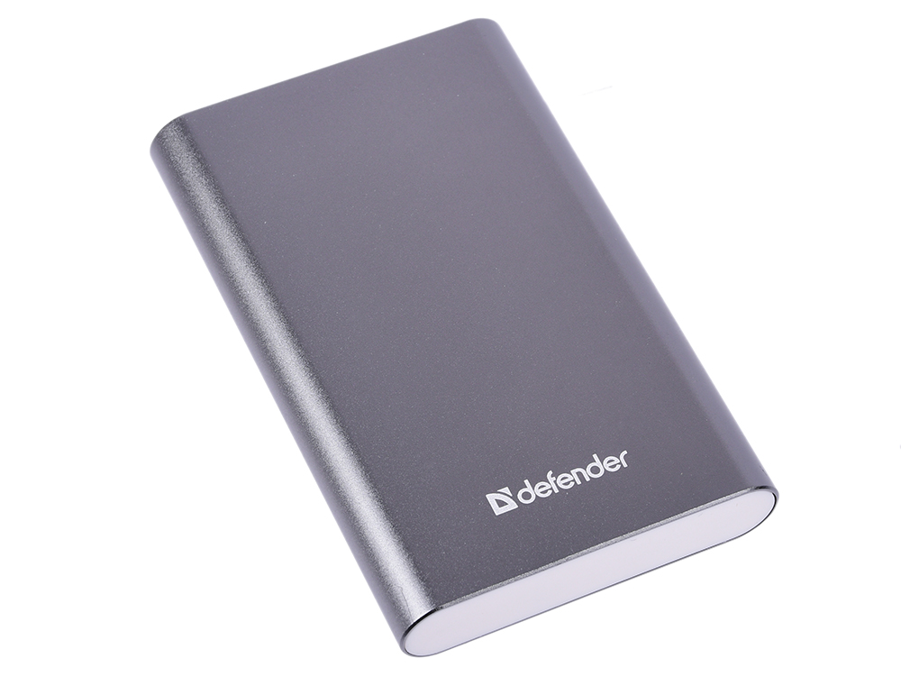 Фото - Внешний аккумулятор Power Bank 8000 мАч Defender ExtraLife темно-серый 83622 внешний аккумулятор power bank 10000 мач cyberpower cp10000peg белый