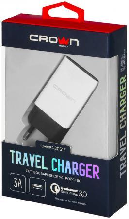 Crown CMWC-3061F Сетевое универсальное зарядное устройство, один порт зарядки; поддержка Quick Charg цена 2017