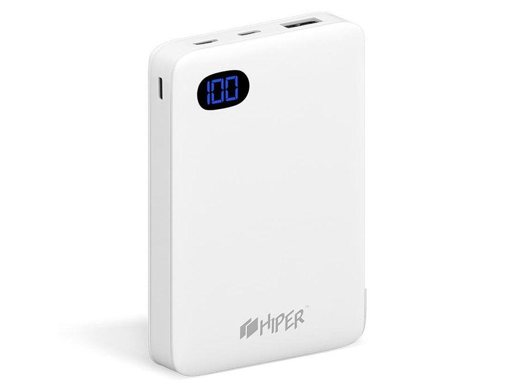 Фото - Внешний аккумулятор Power Bank 10000 мАч HIPER SN10000 белый внешний аккумулятор power bank 10050 мач asus zenpower abtu005 черный 90ac00p0 bbt076