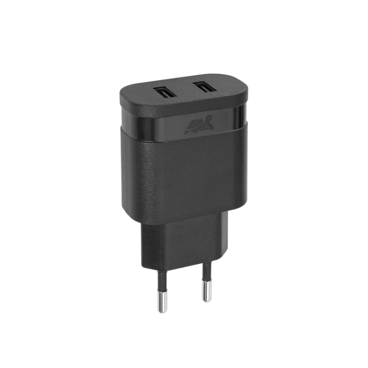 Сетевое зарядное устройство RIVAPOWER VA4123 B00 черное 3,4A / 2USB, без кабеля сетевое зарядное устройство rivapower va4123 wd1 белое 3 4a 2usb с кабелем micro usb
