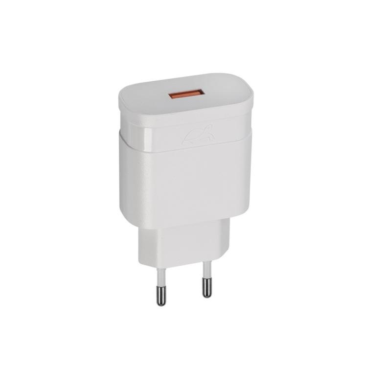 Сетевое зарядное устройство RIVAPOWER VA4110 W00 белое 18W QC3,0 / 1USB, без кабеля