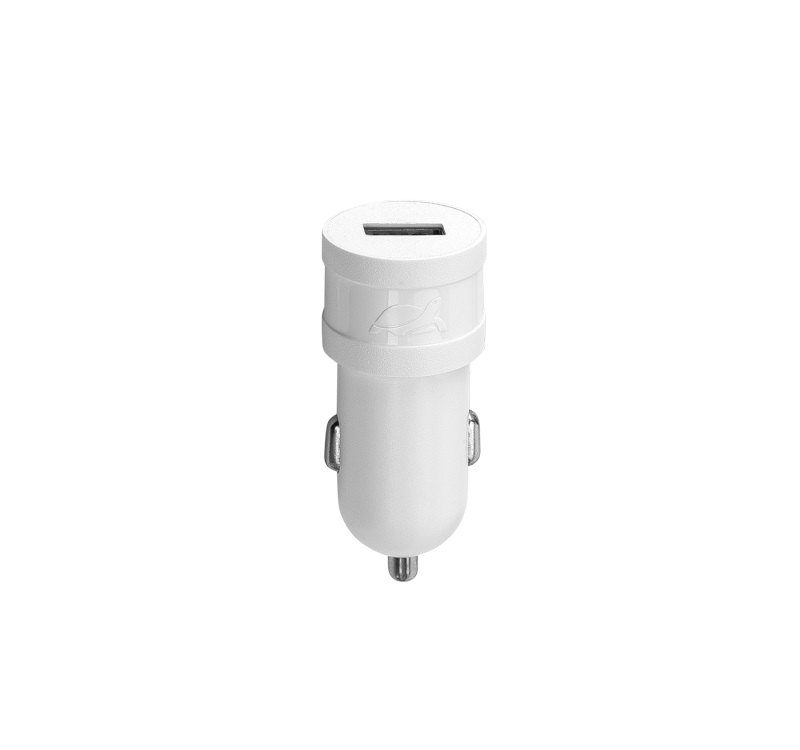 Автомобильное зарядное устройство RIVAPOWER VA4211 W00 белое 1,0A / 1USB, без кабеля зарядное